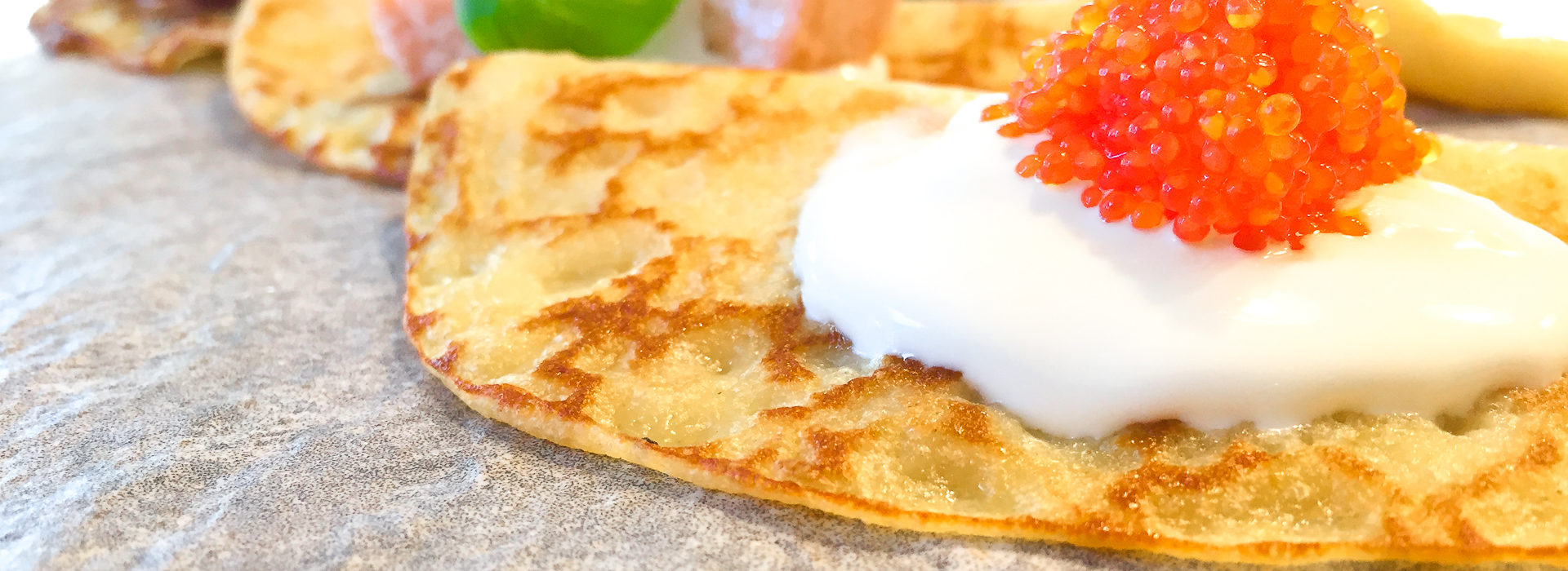 Crepes med laks
